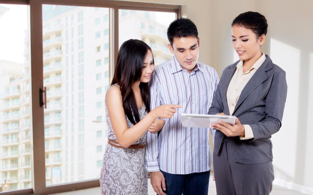 work with a real estate agent when buying your first house