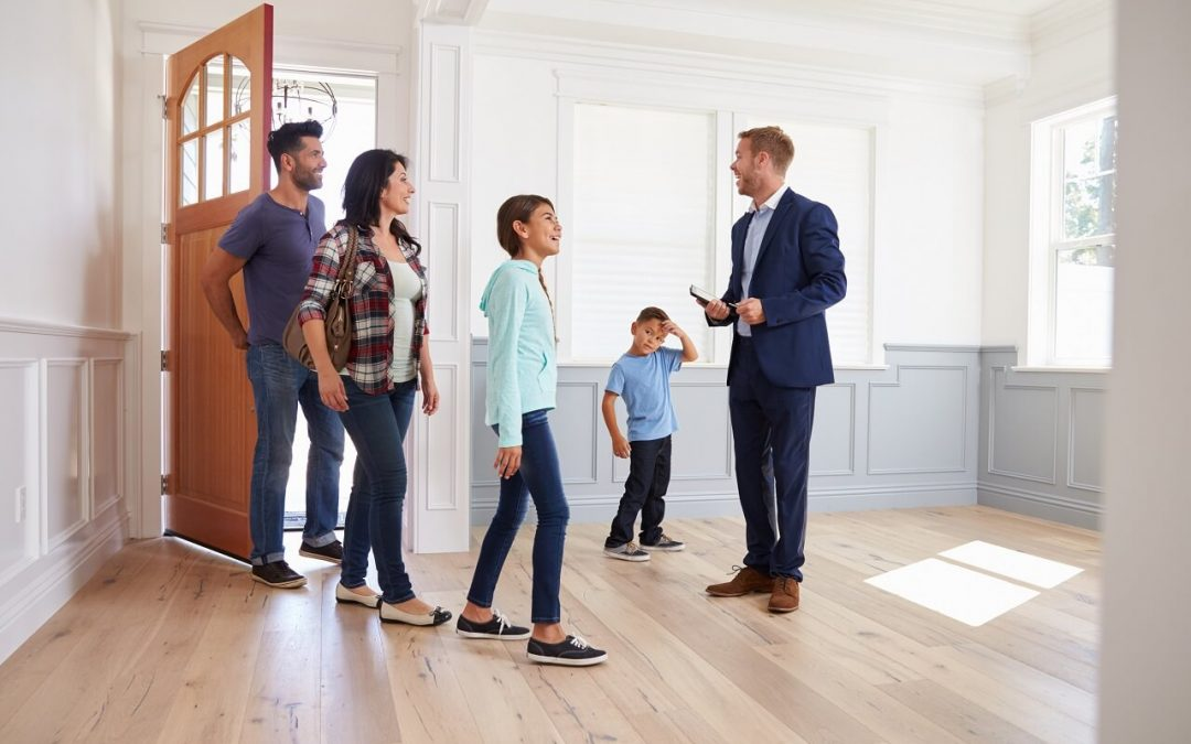 work with a real estate agent to buy a new home